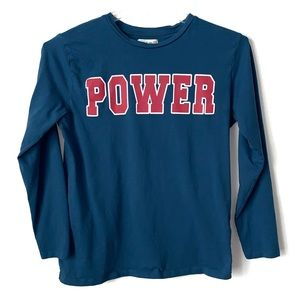"Zara Kids Collection ""Power"" graphic top Sz 13/14"